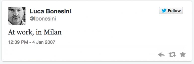 first tweet lbonesini