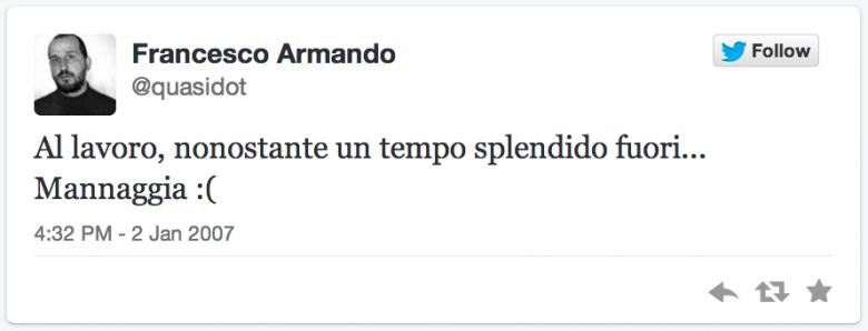 first tweet quasidot