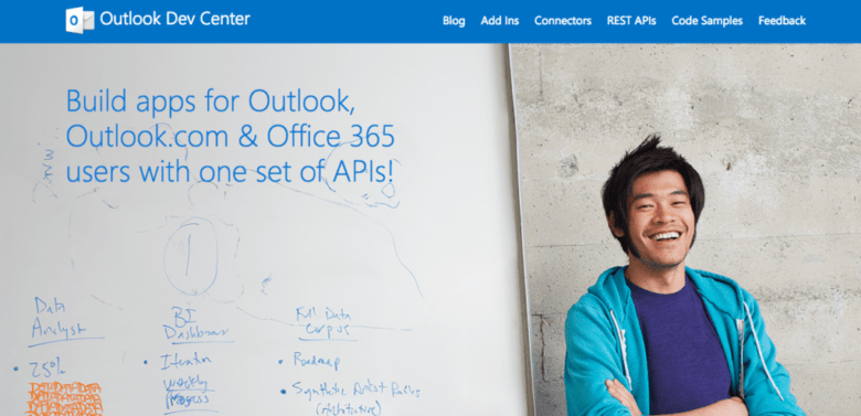 outlook dev center